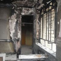 آتش سوزی مدرسه روستای علی آباد به دلیل اتصال برق
