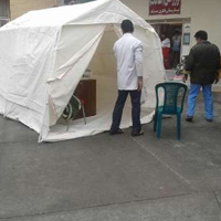 برپایی ۷۰ چادر امدادی در دو روستای زلزله زده کیش
