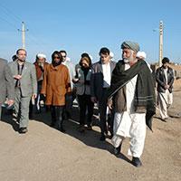 عکس/بازدید مدیر اجرایی برنامه جهانی غذا از مهمانشهر شهید ناصری