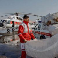 ارسال دارو برای بیماران خاص گرفتار در برف و کولاک