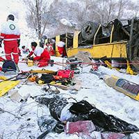 سقوط مرگبار اتوبوس مسافربری به دره جاده هراز