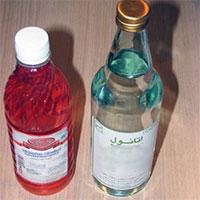 عکس/فروش بدون نسخه الکل سفید در برخی فروشگاههای کرمانشاه
