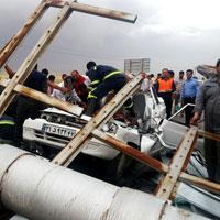 آقای وزیر راه!حادثه دلخراش سقوط تابلوی جاده مشهد را بررسی کنید