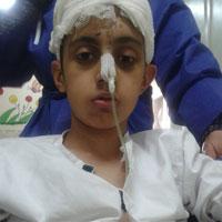 وضعیت نامناسب کودک تهرانی آسیبدیده در طوفان