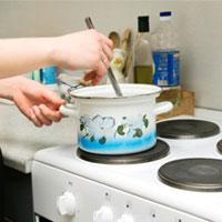 در ظروف خشدار پخت و پز نکنید!