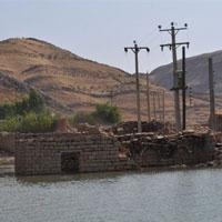 عکس/روستایی که در سد گتوند غرق شد