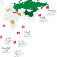 عکس/ وضعیت ایران در نقشه سرطان دنیا