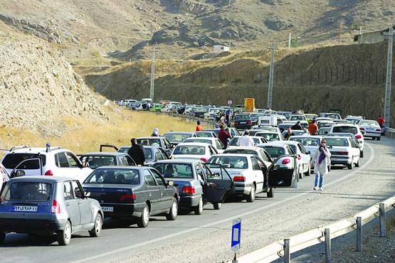 ترافیک نیمه سنگین در آزادراه کرج -قزوین
