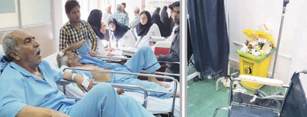 انتقال بيماران از راهرو به زير زمين