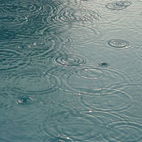 بارش باران آب رفت