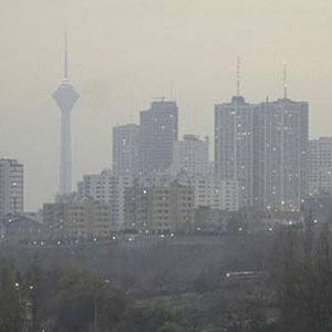 هوای تهران ناسالم است/ شاخص آلودگی ۱۵۷