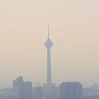چتر ریزگردها بر سر تهران